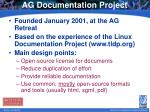 ag documentation project