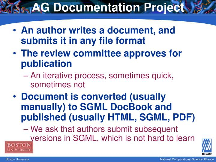 AG Documentation Project