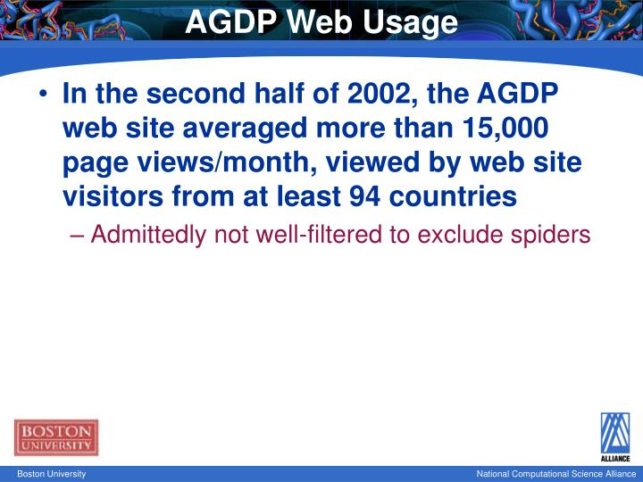AGDP Web Usage