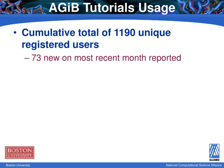 AGiB Tutorials Usage