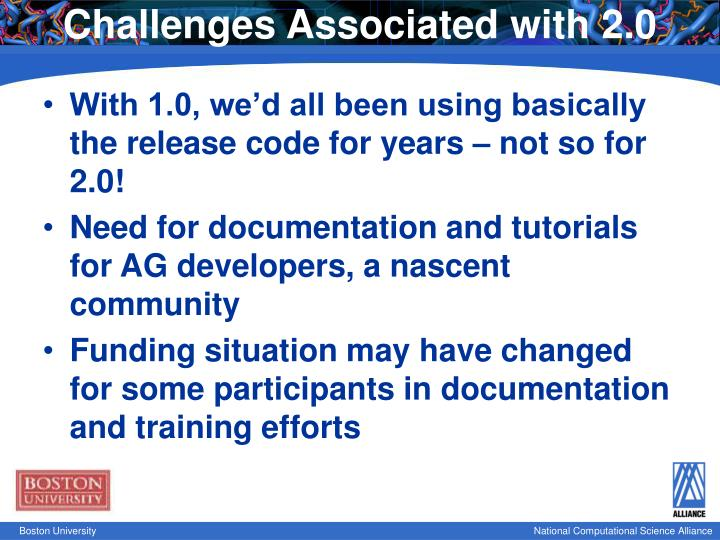 Challenges Associated with 2.0