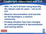 challenges associated with 2 0