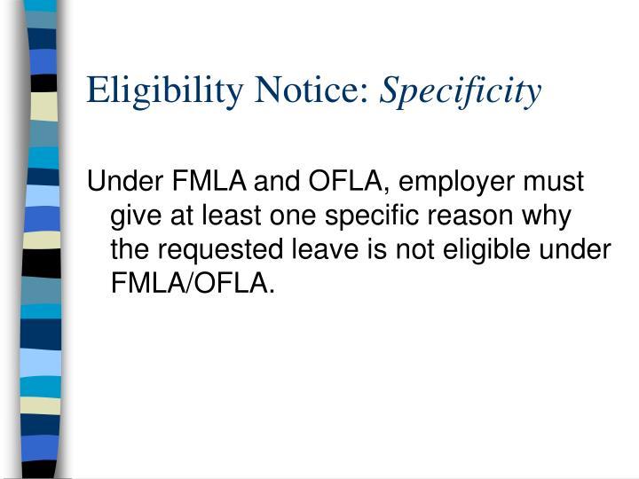 Eligibility Notice: