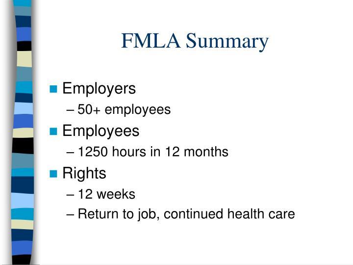 FMLA Summary
