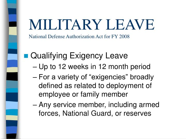 MILITARY LEAVE