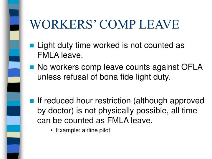 WORKERS' COMP LEAVE