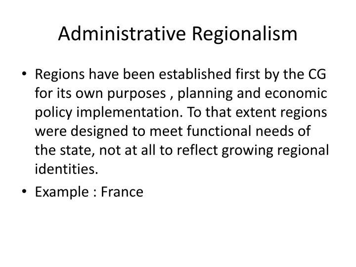 Administrative Regionalism