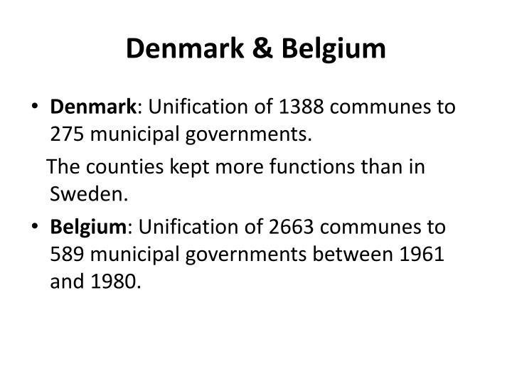 Denmark & Belgium