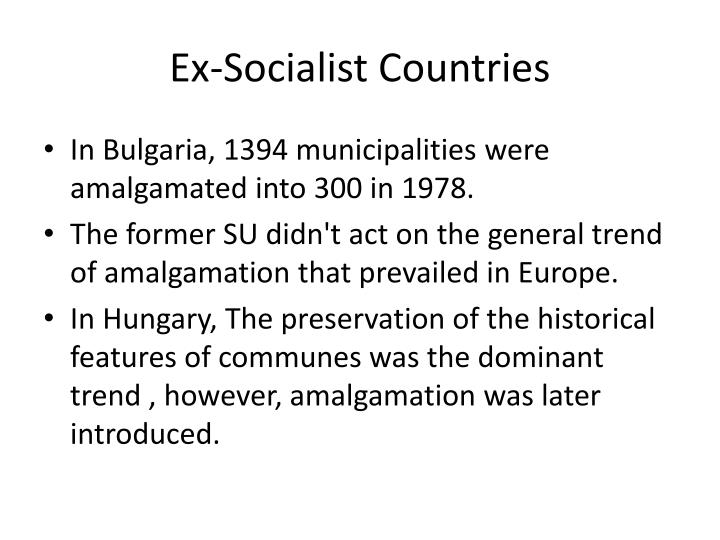 Ex-Socialist Countries