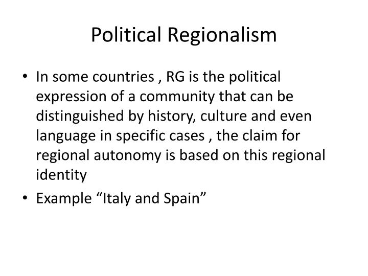 Political Regionalism