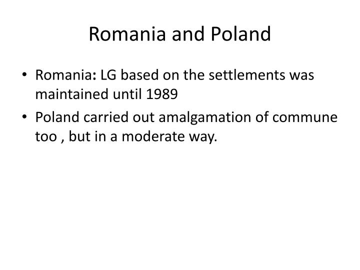 Romania and Poland