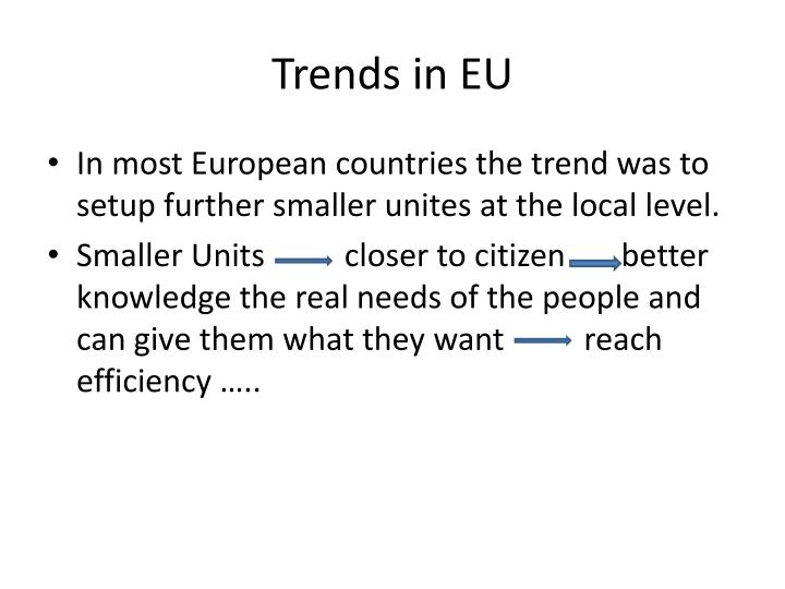 Trends in EU