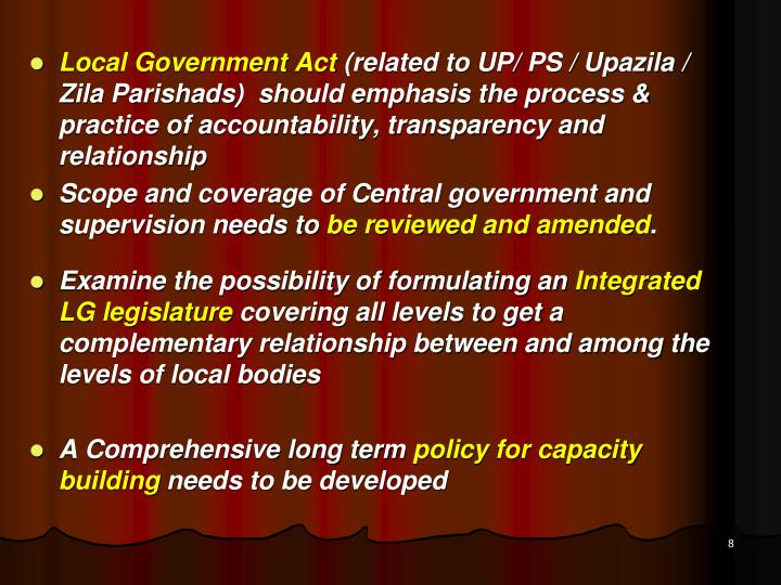 Local Government Act