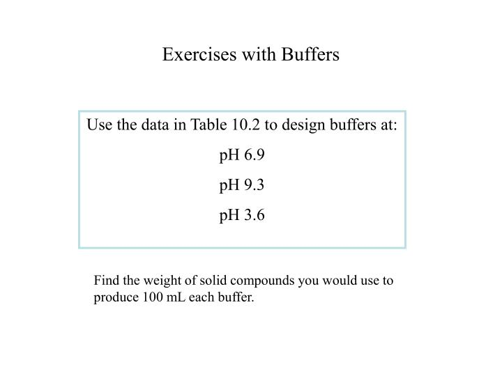 Exercises with Buffers