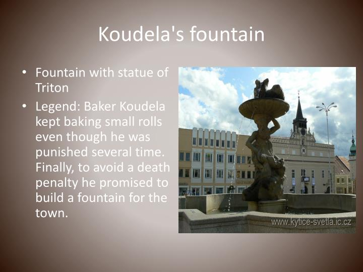 Koudela's fountain