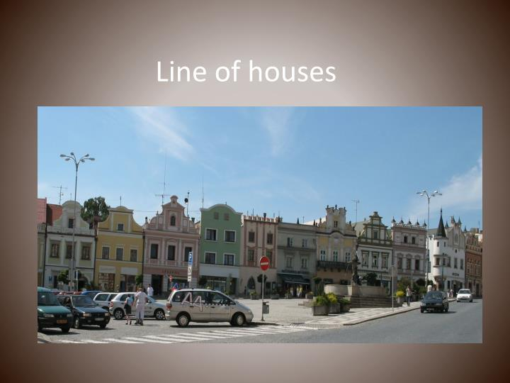 Line of houses