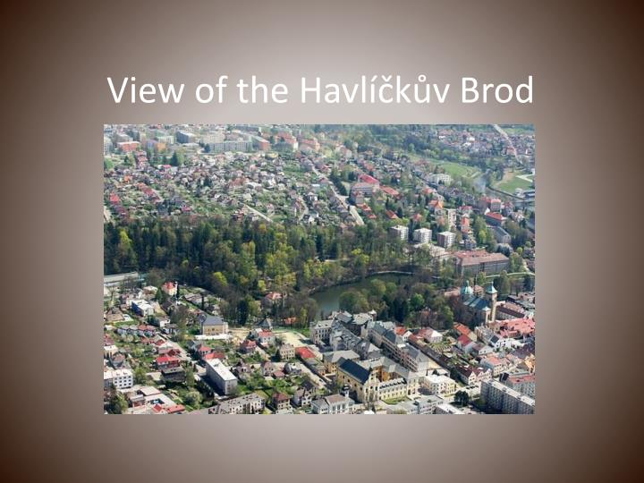 View of the Havlíčkův Brod