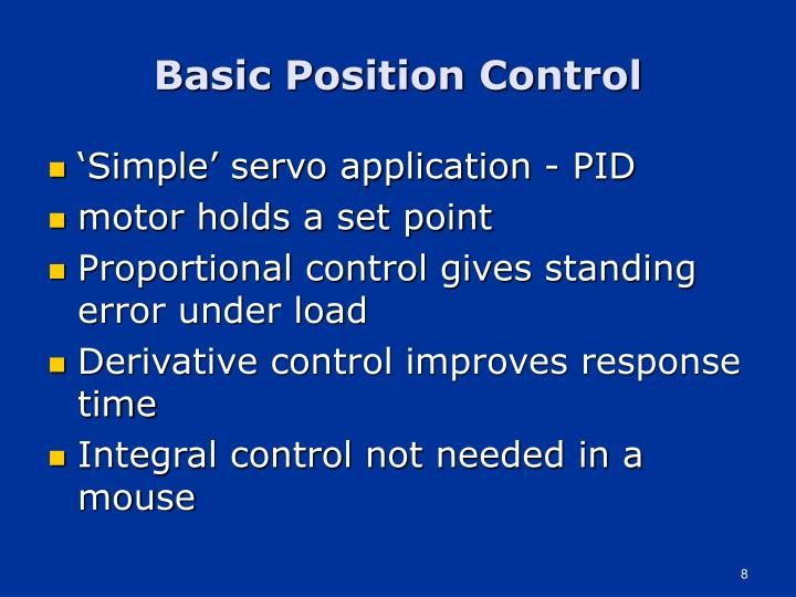 Basic Position Control