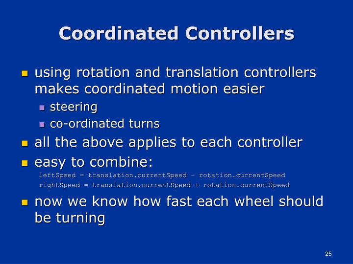 Coordinated Controllers