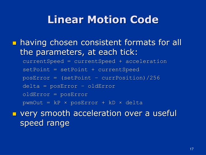 Linear Motion Code
