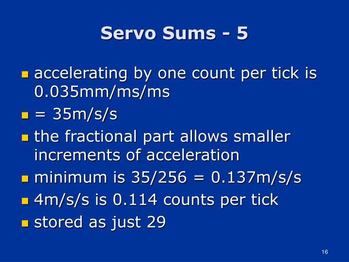 Servo Sums - 5