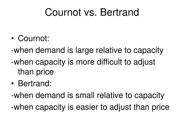 Cournot vs. Bertrand
