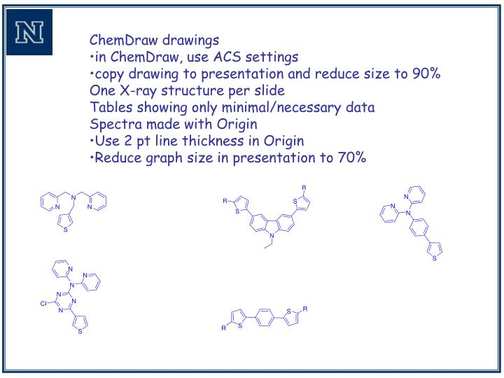 ChemDraw drawings