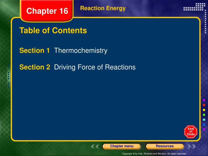 Reaction Energy