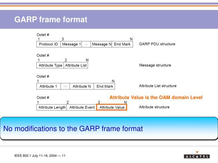 GARP frame format