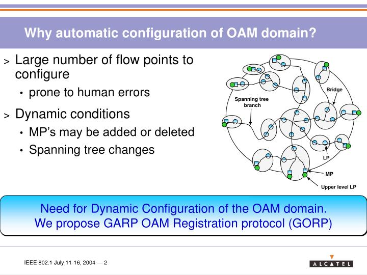 Why automatic configuration of OAM domain?