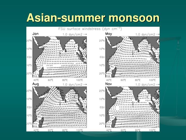 Asian-summer monsoon