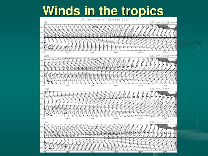 Winds in the tropics
