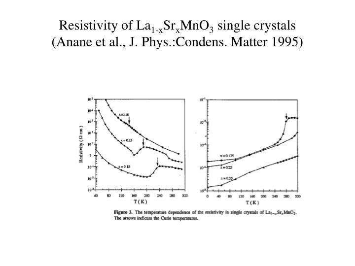 Resistivity of La