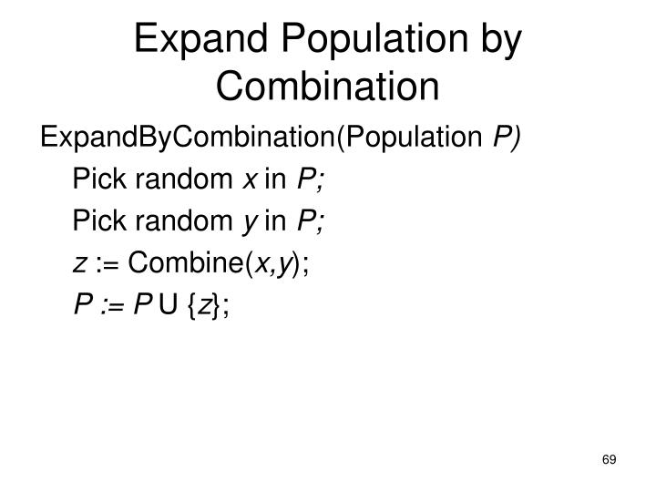 Expand Population by Combination