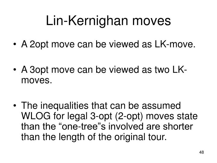 Lin-Kernighan moves