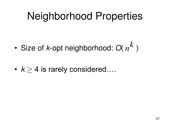 Neighborhood Properties