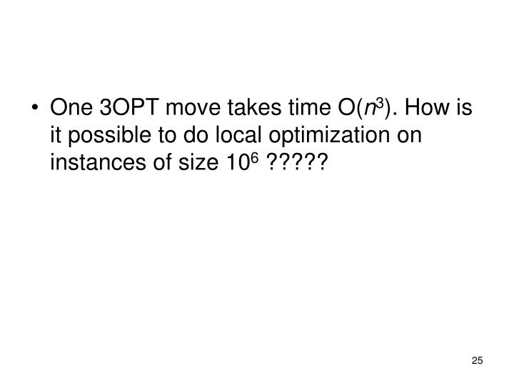 One 3OPT move takes time O(
