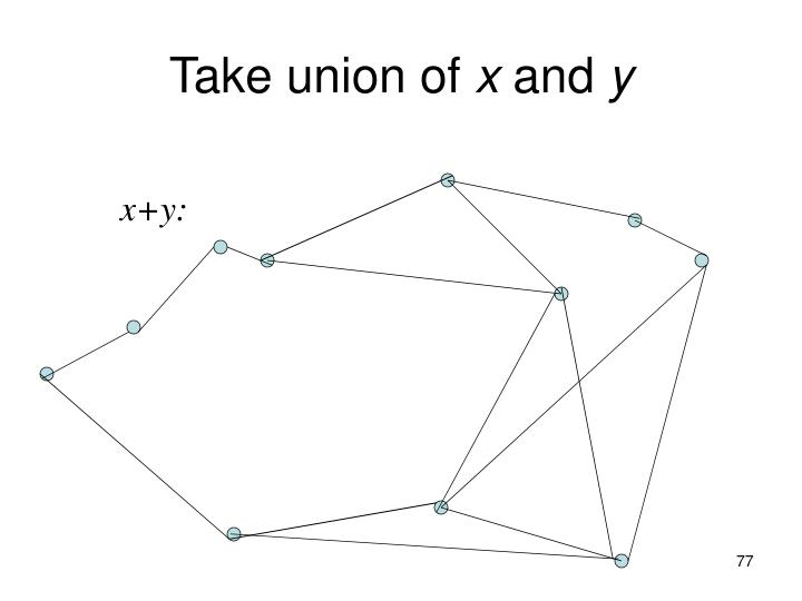 Take union of