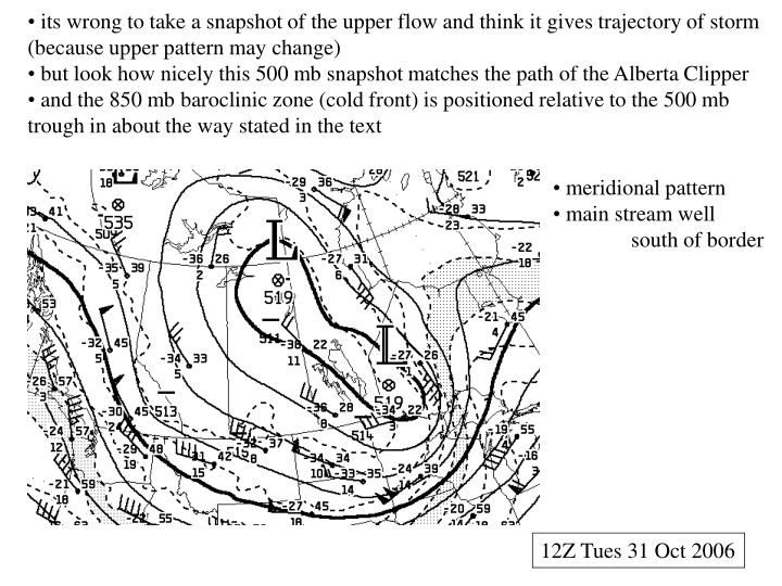 its wrong to take a snapshot of the upper flow and think it gives trajectory of storm (because upper pattern may change)