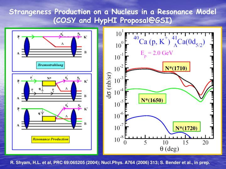 Strangeness Production on a Nucleus in a Resonance Model (COSY and HypHI Proposal@GSI)