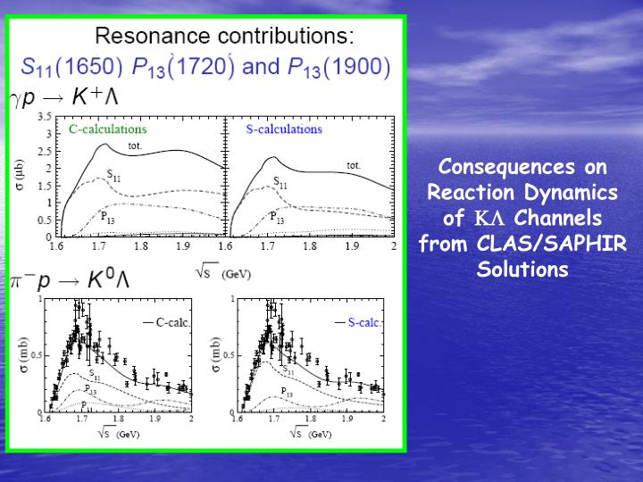 Consequences on Reaction Dynamics of