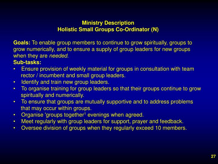 Ministry Description