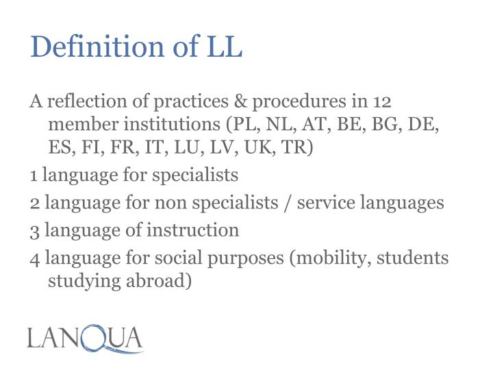 Definition of ll1