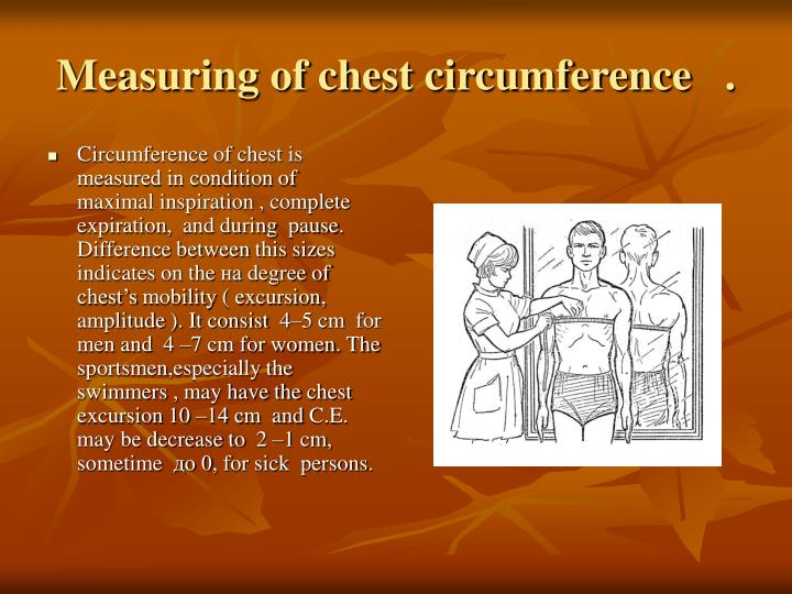 Measuring of chest circumference