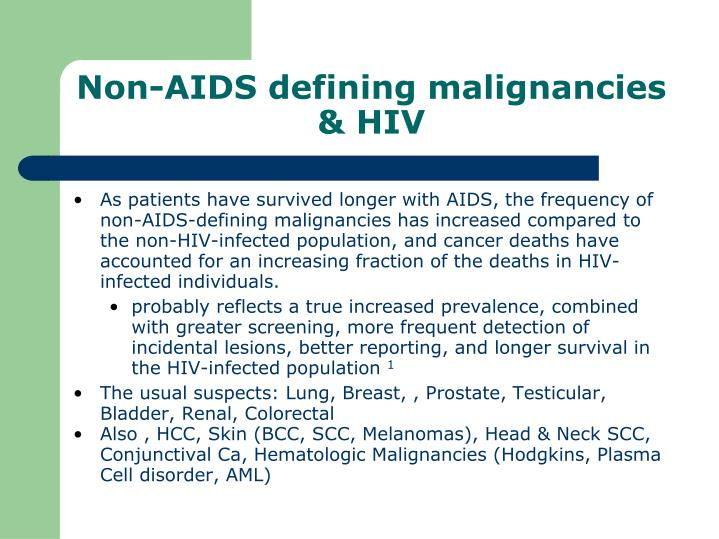 Non aids defining malignancies hiv