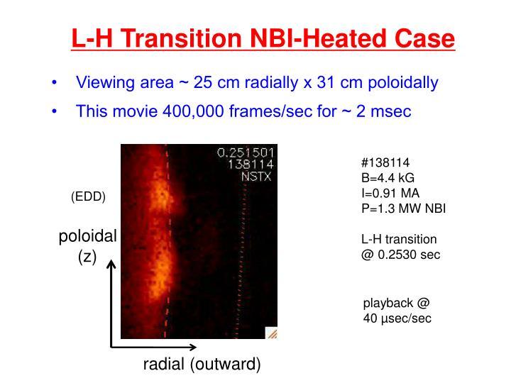 L-H Transition NBI-Heated Case