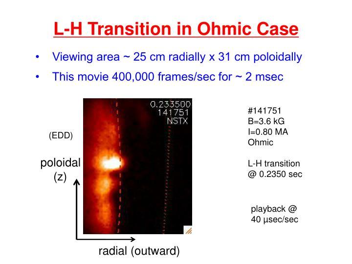 L-H Transition in Ohmic Case