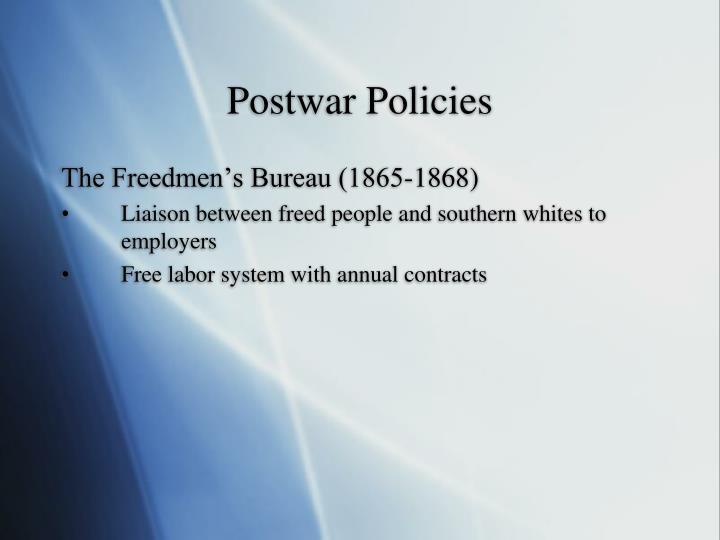 Postwar Policies