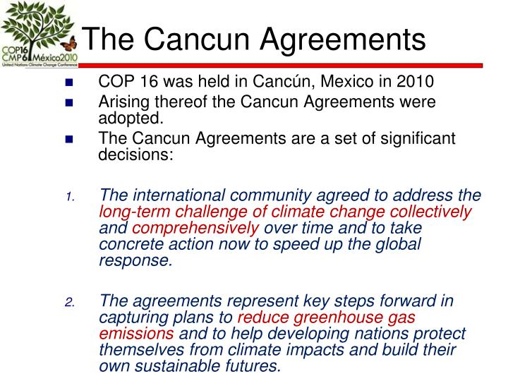 The Cancun Agreements