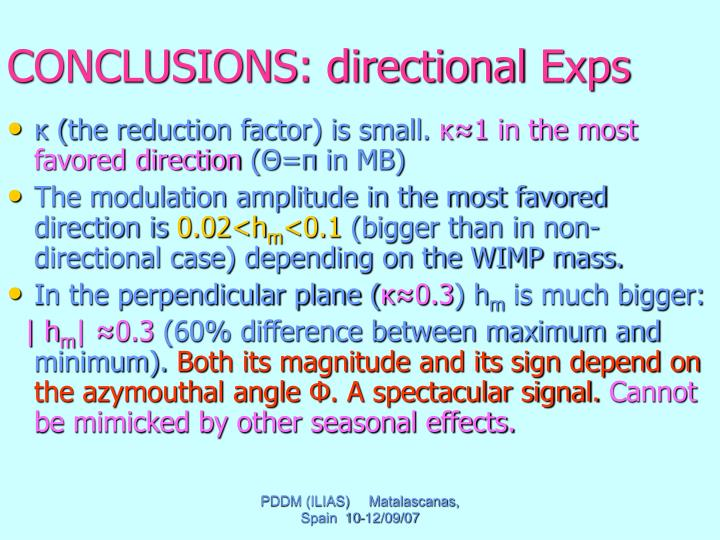 CONCLUSIONS: directional